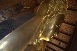A statue in a temple in Bangkok Thailand