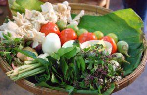 A basket of vegetables