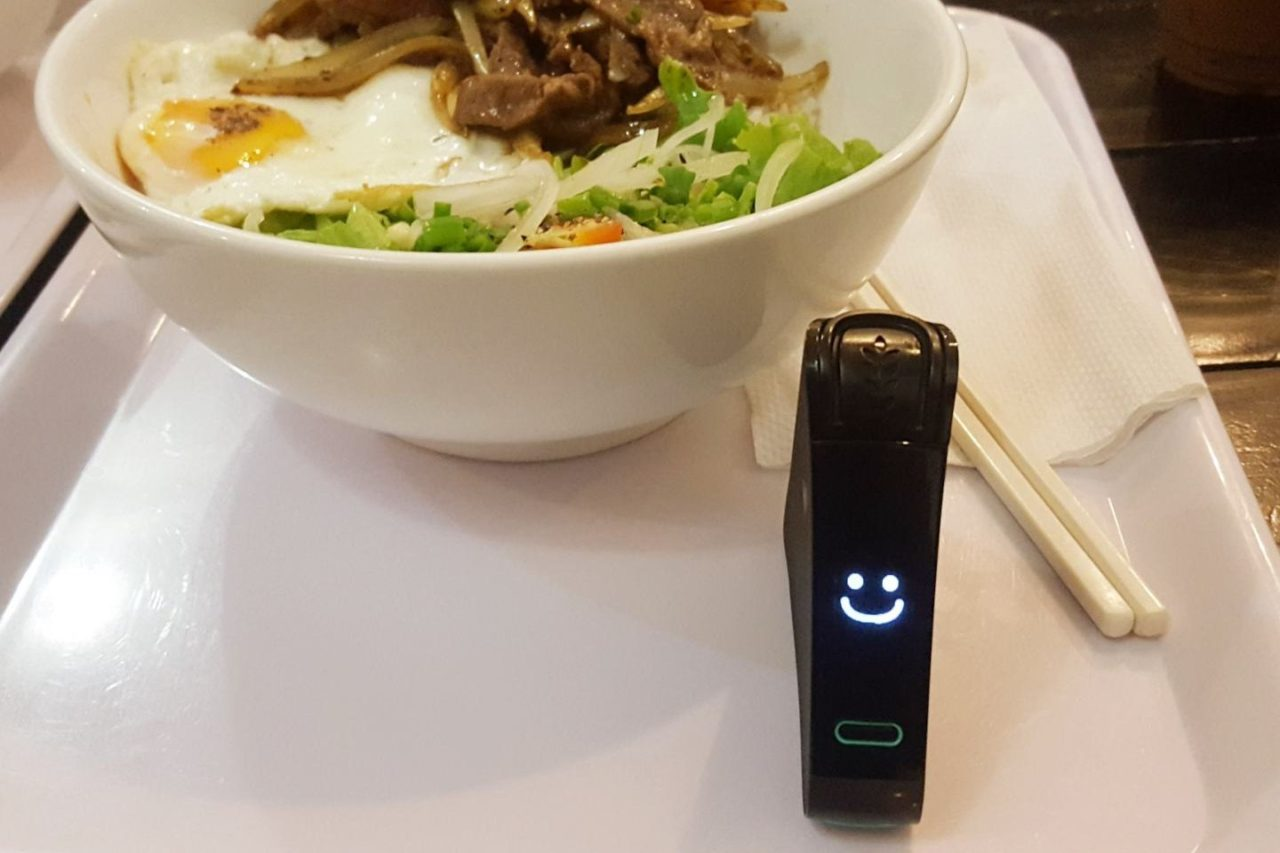 Nima Gluten Sensor and a vietnamese meal