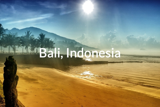 Beach in Bali, Indonesia