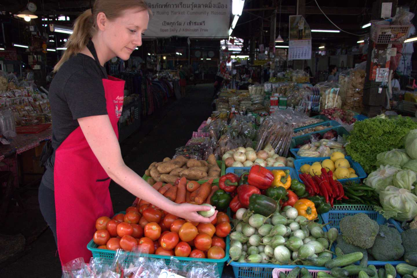 Market in Chiang Mai Thailand