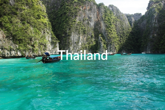 A bay in Thailand