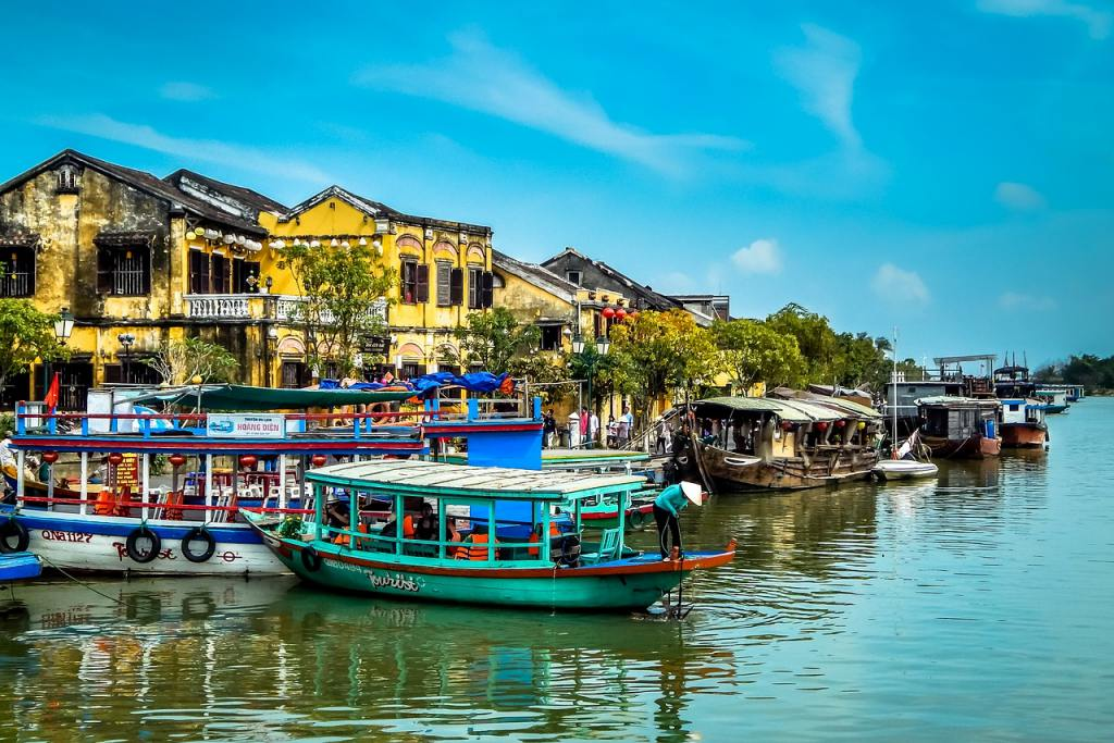 Vietnam River with Boats