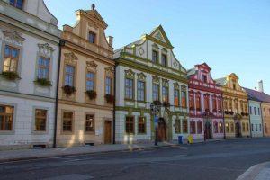 Beautiful buidlings in Hradec Kralove