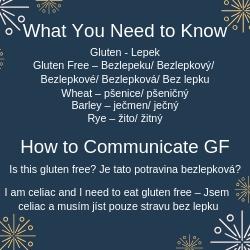 Czech Gluten Free Phrases