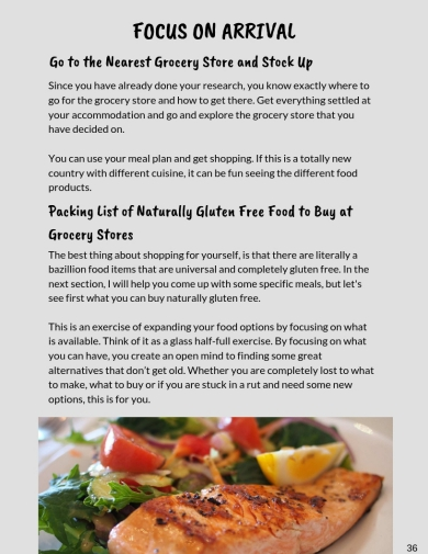Gluten Free Travel Guide First Grocery Shopping