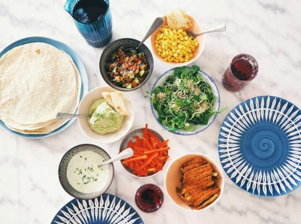 Picnic with tortillas