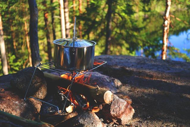 Pot on a campfire