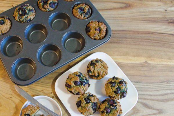 Fresh blueberry muffins