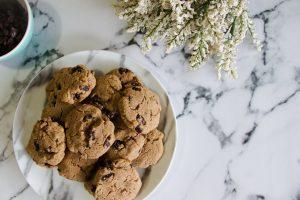 Plate of gluten free cookies