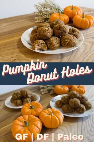 Pumpkin dairy free donut holes